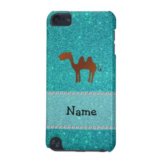 Personalized name camel turquoise glitter iPod touch 5G covers