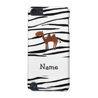 Personalized name camel zebra stripes iPod touch 5G cover