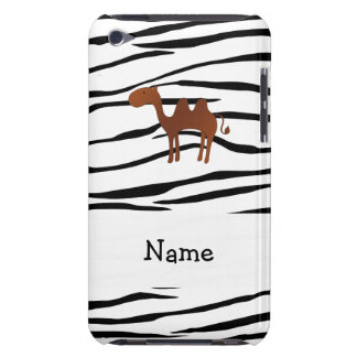Personalized name camel zebra stripes barely there iPod case