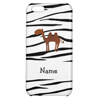 Personalized name camel zebra stripes iPhone 5C cases