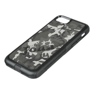 Personalized Name Camo OtterBox Commuter iPhone 8/7 Case
