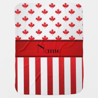 Personalized name Canadian pattern Receiving Blanket