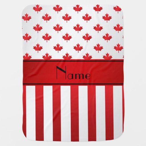 Personalized name Canadian pattern Stroller Blankets