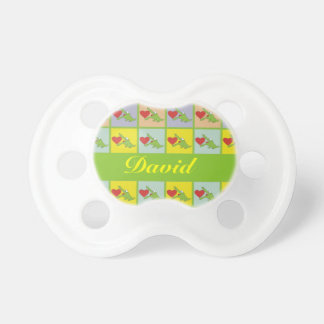 Personalized Name Cartoon Crocodile Baby Pacifier