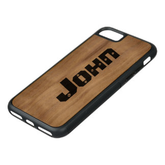 Personalized Name Carved iPhone 7 Case