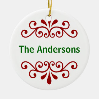 Personalized Name Christmas Ornament in Red