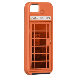 Personalized Name Coral Telephone Box iPhone5 Case iPhone 5 Case