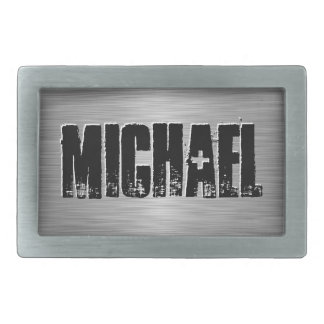 Personalized Name Custom Belt Buckle Black/Gray