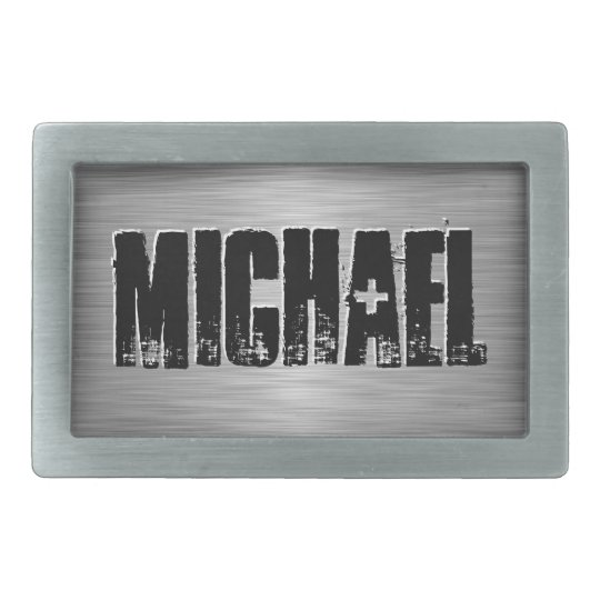 Personalized Name Custom Belt Buckle Black/Grey