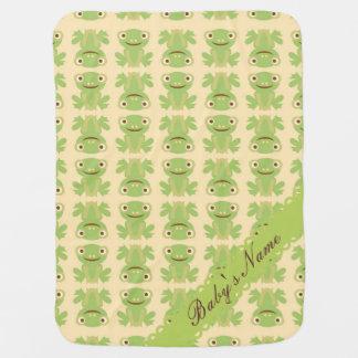 Personalized Name Custom Frog Baby Blanket