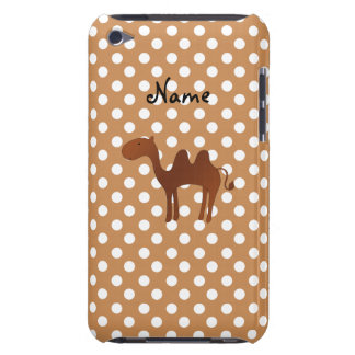 Personalized name cute camel brown polka dots iPod Case-Mate case
