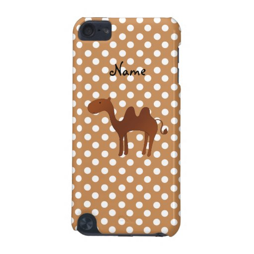 Personalized name cute camel brown polka dots iPod touch (5th generation) cases