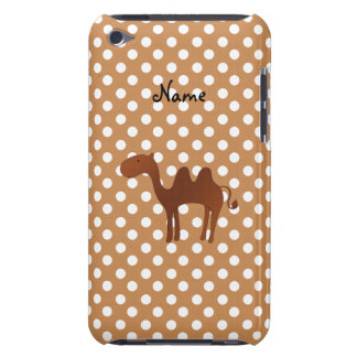 Personalized name cute camel brown polka dots iPod touch cases