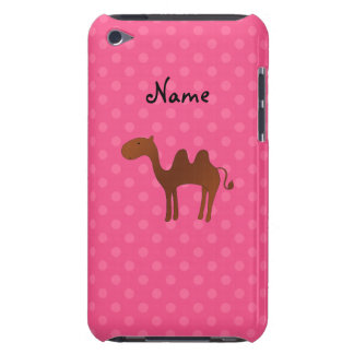 Personalized name cute camel pink polka dots iPod touch case