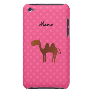 Personalized name cute camel pink polka dots iPod touch covers