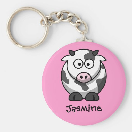 Personalized Name - Cute Cartoon Cow Key Chains