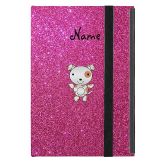 Personalized name dog pink glitter iPad mini case