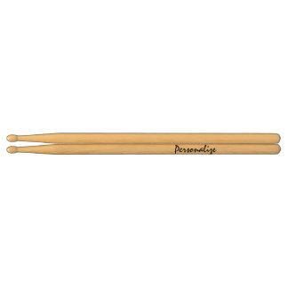 Personalized name drumsticks for drummers