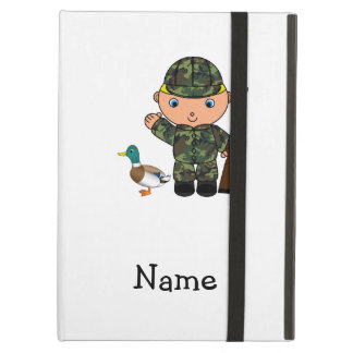 Personalized name duck hunter cover for iPad air