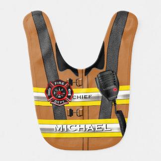 Personalized Name Firefighter Fashion Statement Bib