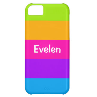 Personalized Name Fluorescent Neon Colors Striped iPhone 5C Case