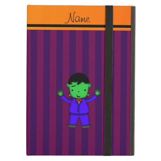 Personalized name frankenstein purple stripes case for iPad air