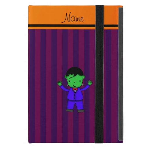 Personalized name frankenstein purple stripes cover for iPad mini