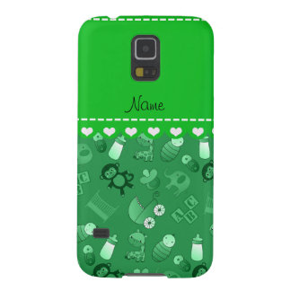Personalized name green baby animals galaxy s5 cover