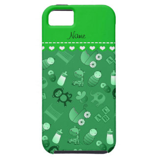 Personalized name green baby animals iPhone 5 cover
