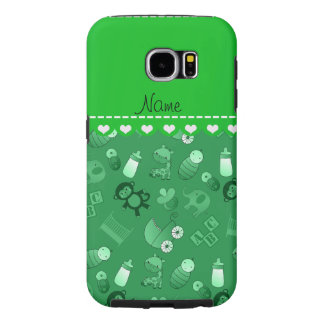 Personalized name green baby animals samsung galaxy s6 cases