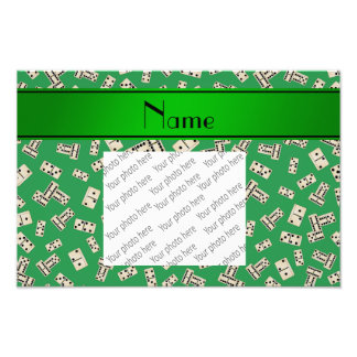 Personalized name green dominos photograph