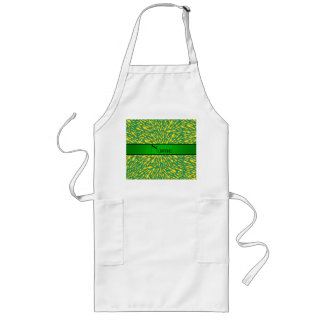 Personalized name green lightning bolts aprons