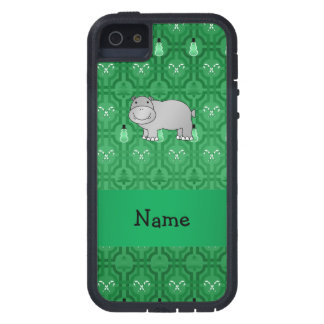 Personalized name hippo green snowmen iPhone 5 cover