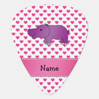 Personalized name hippo pink hearts polka dots pick