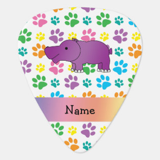 Personalized name hippo rainbow paws pick