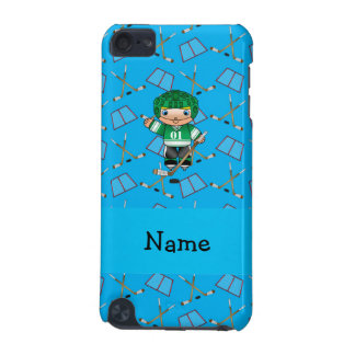 Personalized name hockey player sky blue hockey iPod touch (5th generation) cases