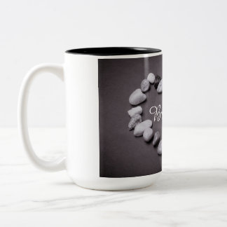 Personalized Name in stones of heart Two-Tone Coffee Mug