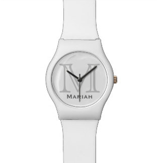 personalized name & initial letter watch