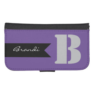 Personalized Name & Initial Phone Wallet Case