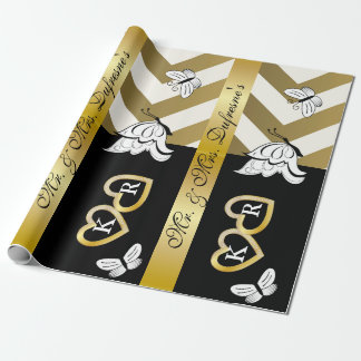 Personalized Name & Initials Wedding/Anniversary Wrapping Paper