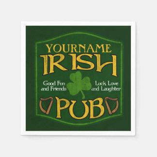 Personalized Name Irish Pub Paper Napkins