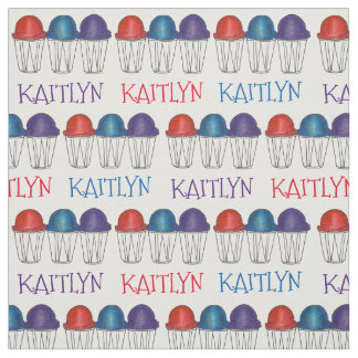 Personalized Name Italian Water Ice Ices Fabric