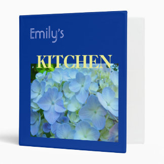 Personalized Name KITCHEN recipes binders