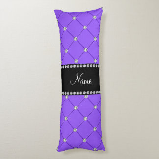 Personalized name Light purple tuft diamonds Body Pillow