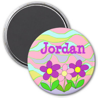 Personalized Name Magnet, Pink, Blue, Purple Magnet
