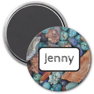 Personalized Name Magnet Stones and Turquoise
