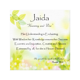 Personalized Name Meaning Wall Art
