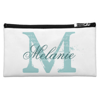 Personalized name monogram cosmetic bags