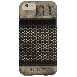 Personalized Name Monogram Grunge Metal Web Tough iPhone 6 Plus Case