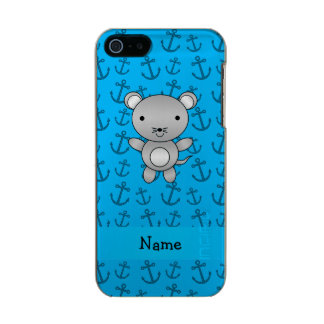 Personalized name mouse blue anchors pattern incipio feather® shine iPhone 5 case